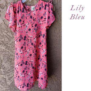 Lily Bleu Floral Cold Shoulder Dress Size 6x